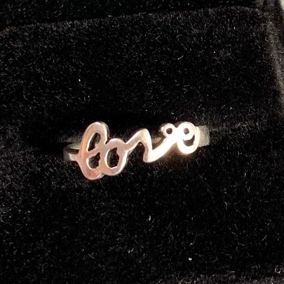 ".925 Sterling Silver ""Love"" Ring"